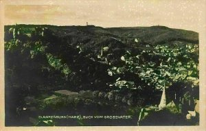 Blankenburg Harz Blick vom Grossvater Panorama Postcard