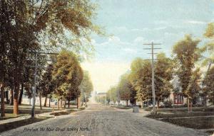 Pittsfield Maine Main Street Scene Residential Antique Postcard K17033