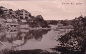 Mosmans Bay Sydney Boats Real Photo Old Postcard