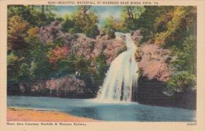 Virginia Beautiful Waterfall At Riverside Near Buena Vista