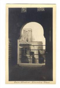 RP; From Window, Alhambra Palace, Spain, 00-10s