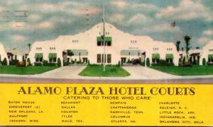 Alamo Plaza Hotel Courts 1956