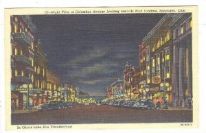 Night View of Columbus Avenue towards Boat Landing in Lake Erie Vacationland,...