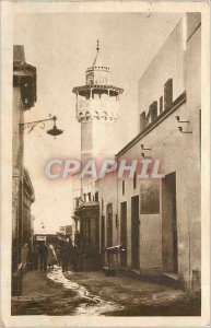 Old Postcard Tunis Rue Sidi Ben Ziad Minaret