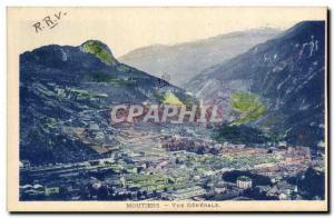Old Postcard Moutiers Vue Generale