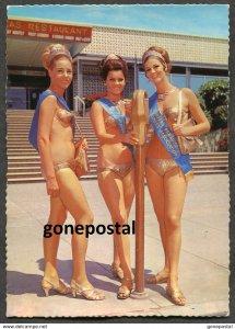 dc629 - Australia GOLD COAST Queensland 1960s Meter Maids. Bikini Pin-up Girls