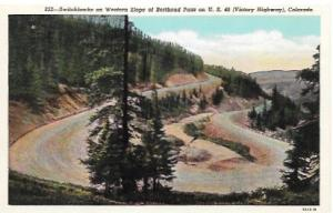 Unused post card. Berthoud Pass on US 40, Colorado