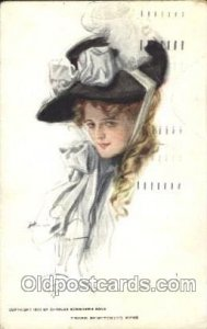 Those Bewitching Eyes Artist Signed Harrison Fisher 1913 big internal creases...