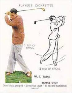 Player Vintage Cigarette Card Golf 1939 No 23 Brassie Shot W T Twine