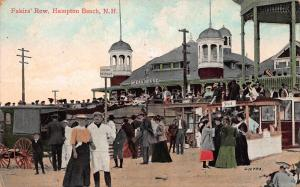 Fakirs' Row, Hampton Beach, New Hampshire, Early Postcard, Used