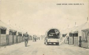 Long Island New York~Canva-Covered Truck @ Camp Upton 1940 B&W Litho