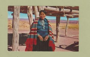 Beautiful Navajo Woman RPPC Post Card Native American Indian