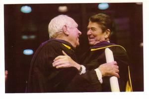 President  Reagan with Pat O'Brien, Notre Dame, 1981