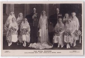 RPPC, Royal Wedding - H.R.H. Princess Mary, Lord Lascelles &
