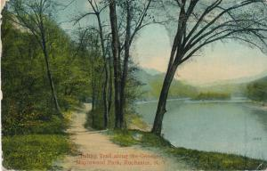 Maplewood Park Rochester New York Indian Trail along Genesee River pm 1914 - DB