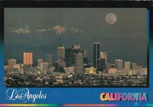 California Los Angeles Skyline At Night