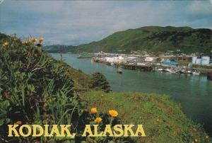 Alaska Kodiak Downtown Panoramic View 1998