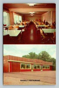 Griffin GA- Georgia, Russell's Restaurant, Vintage Chrome Postcard