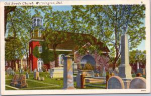 postcard DE Old Swede Church, Wilmington Delaware