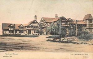 LP93 Cincinnati  Ohio Rookwood Pottery Handcolored       Postcard