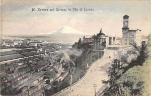 Mt. Tacoma and Gateway Washington Antique Postcard L552