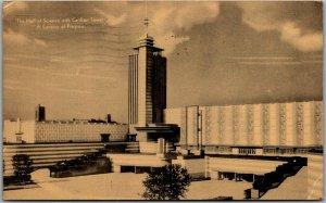 Chicago World's Fair Postcard Hall of Science / Carillon Tower 1934 Cancel