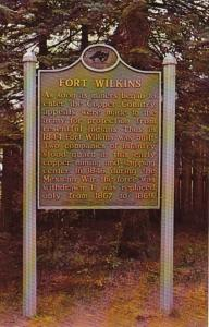 Michigan Copper Harbor Entrance Sign At Fort Williams State Park
