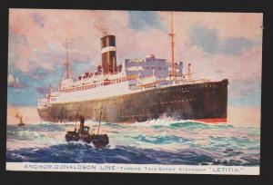 Anchor-Donaldson Line Ship SS Letitia - Glasgow To Canadian Ports Route