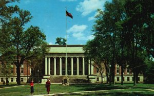 Tuscaloosa, AL, University of Alabama, Gorgas Library, 1959 Postcard g9322
