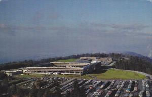 Aerial Looking West, Simon Fraser University Burnaby 2, British Columbia, Can...