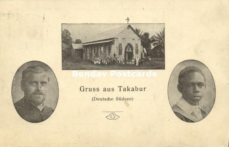 german new guinea, ENB, Kokopo, TAKABUR, Missionary Mission Church (1911)
