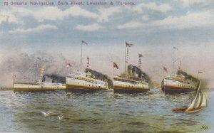 TORONTO , Ontario, Canada, 1900-10s; Ontario Navigation Company Fleet