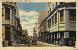 colombia, BARRANQUILLA, Una Calle Comercial, Cars (1940s)