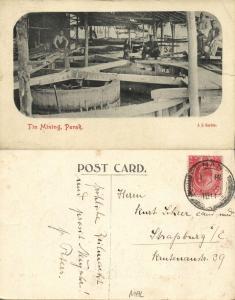 malay malaysia, PERAK IPOH, Tin Mining (1911) Stamp