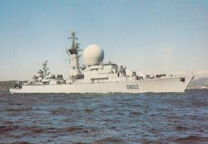 Suffren French War Boat Marine Nationale Military Ship Postcard