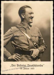 3rd Reich Germany Hitler Liberator Propaganda Hoffmann J2  RPPC Card Munic 71992