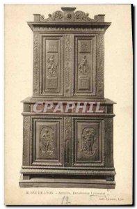 Old Postcard Museum of Lyon Lyon Renaissance cabinet