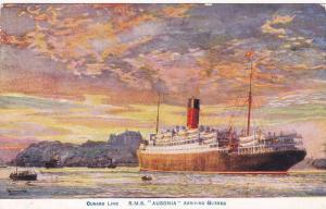 Cunard Ocean Liner R.M.S. AUSONIA arriving , Quebec , Canada , 00-10s