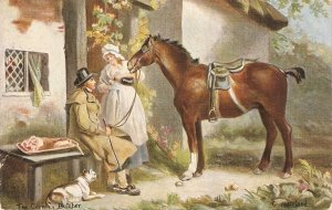 The Country Butcher. Horse Nice old viontage English PC. Signed