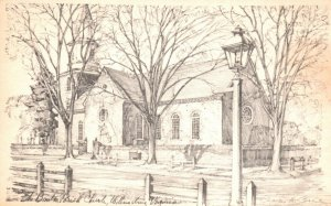 Williamsburg, Virginia, VA, Bruton Parish Church, Vintage Postcard g8135