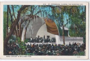 Band Concert in Williams Park, St Petersburg FL
