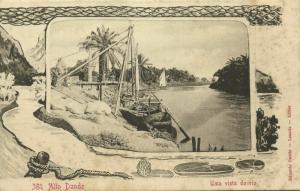 angola, ALTO DANDE, Uma Vista do Rio, Fishing Boat (1899)