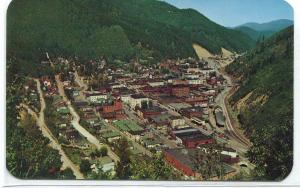 Wallace Idaho Aerial View 1950s postcard