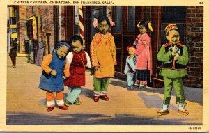 California San Francisco Chinatown Chinese Children 1942
