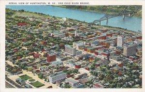 West Virginia Huntington Aerial View Of Huntington And Ohio River Bridge Artvue