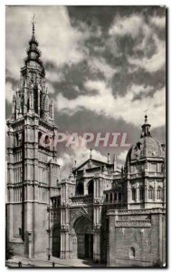 Postcard Old Toledo Catedral Fachada principal facade Main Main forehead