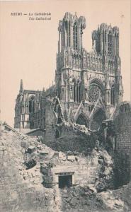 France Reims en Ruins La Cathedrale