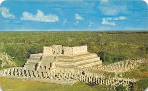 Mexico Chichen Itza Yuc. Temple of the Warriors Ruins Templo de los Guerreros