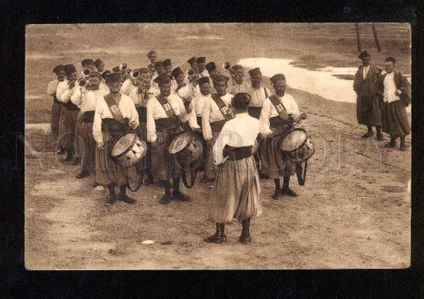 050546 ALGERIA soldiers musician w/ Drums Vintage PC