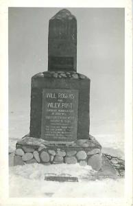 RPPC of Marker Where Will Roger & Wiley Post Airplane Crashed in Alaska